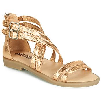 Sapatos Rapariga Sandálias Citrouille et Compagnie IMOURAT Ouro