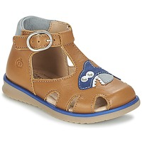 Sapatos Rapaz Sandálias Citrouille et Compagnie ISKILANDRO Castanho / Azul