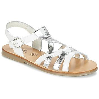 Sapatos Rapariga Sandálias Citrouille et Compagnie IMONGI Branco / Prateado