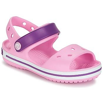 Sapatos Rapariga Sandálias Crocs CROCBAND SANDAL Rosa / Violeta