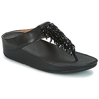 Sapatos Mulher Chinelos FitFlop CHA-CHA TOE-THONG SANDALS CRYSTAL Preto