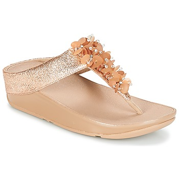 Sapatos Mulher Chinelos FitFlop BOOGALOO TOE POST Rosa / Ouro