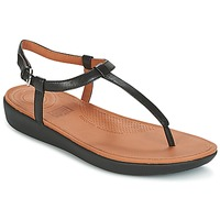 Sapatos Mulher Chinelos FitFlop TIA TOE THONG SANDALS Preto