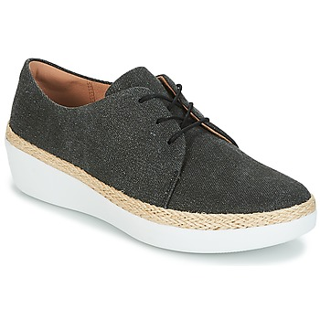 Sapatos Mulher Sapatilhas FitFlop SUPERDERBY LACE UP SHOES Preto