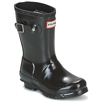 Sapatos Rapariga Botas de borracha Hunter ORIGINAL KIDS GLOSS Preto