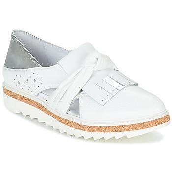 Sapatos Mulher Mocassins Regard RASTAFA Branco / Prata