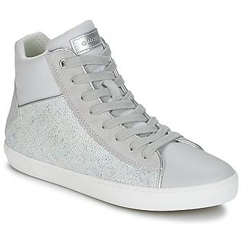 Sapatos Rapariga Sapatilhas de cano-alto Geox J KILWI G. H Cinza / Prata
