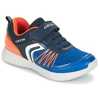 Sapatos Rapaz Sapatilhas Geox J WAVINESS B.C Marinho / Laranja