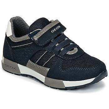 Sapatos Rapaz Sapatilhas Geox J ALFIER B. A Marinho / Cinza