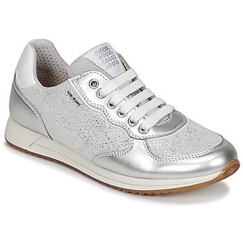 Sapatos Rapariga Sapatilhas Geox J JENSEA G. D Cinza / Prata