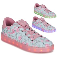 Sapatos Rapariga Sapatilhas Geox J KOMMODOR G. B Azul / Rosa