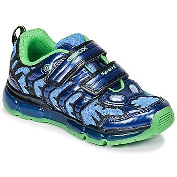 Sapatos Rapaz Sapatilhas Geox J ANDROID B. B Marinho / Verde