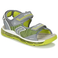 Sapatos Rapaz Sandálias desportivas Geox J S.ANDROID B.A Cinza / Verde