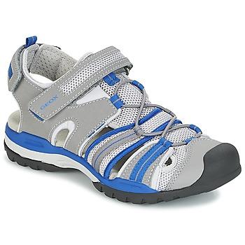 Sapatos Rapaz Sandálias desportivas Geox J BOREALIS B. C Cinza / Azul