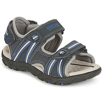 Sapatos Rapaz Sandálias desportivas Geox J S.STRADA A Marinho