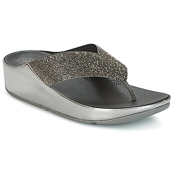 Sapatos Mulher Chinelos FitFlop CRYSTALL Prata