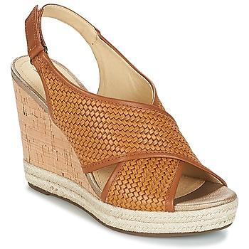 Sapatos Mulher Sandálias Geox JANIRA C Castanho