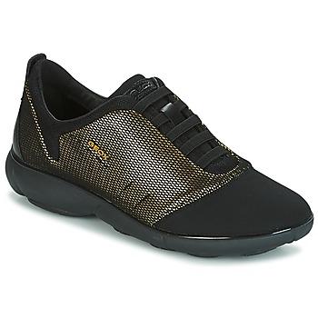 Sapatos Mulher Sapatilhas Geox D NEBULA C Ouro / Preto