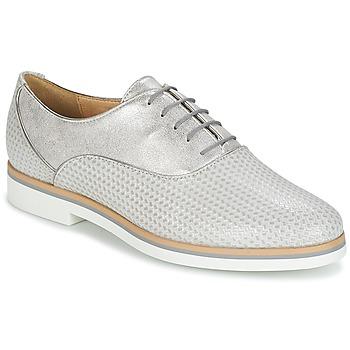Sapatos Mulher Sapatos Geox JANALEE A Cinza / Branco