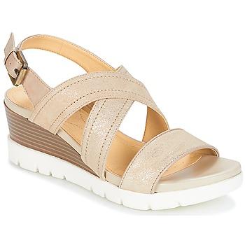 Sapatos Mulher Sandálias Geox MARYKARMEN P.B Ouro / Bege