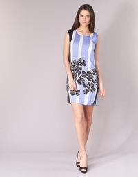 Textil Mulher Vestidos curtos Sisley LAPOLLA Azul / Branco / Preto