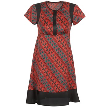 Textil Mulher Vestidos curtos Sisley ZEBRIOLO Vermelho / Preto