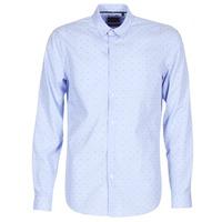Textil Homem Camisas mangas comprida Sisley KELAPSET Azul / Claro