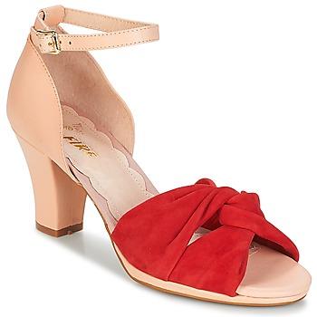 Sapatos Mulher Sandálias Miss L'Fire EVIE Vermelho / Rosa