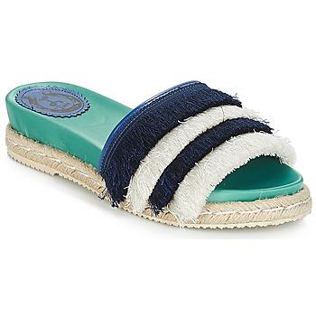 Sapatos Mulher Chinelos Miss L'Fire ZOEY Marinho / Verde