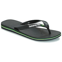 Sapatos Chinelos Havaianas BRAZIL LOGO Preto