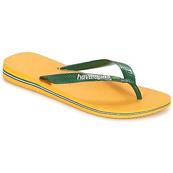 Sapatos Chinelos Havaianas BRAZIL LOGO Amarelo
