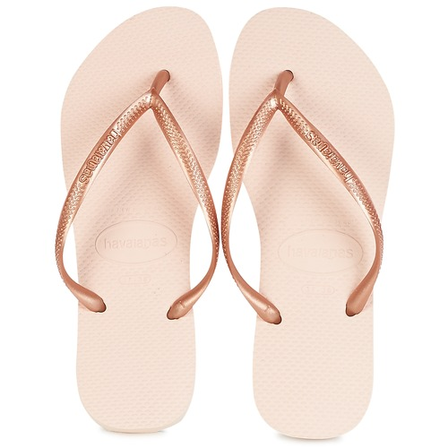 Sapatos Mulher Chinelos Havaianas SLIM Rosa / Ouro