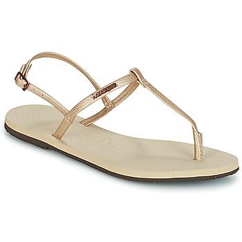 Sapatos Mulher Sandálias Havaianas YOU RIVIERA Bege