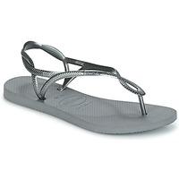 Sapatos Mulher Chinelos Havaianas LUNA Prata