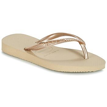 Sapatos Rapariga Chinelos Havaianas SLIM Bege