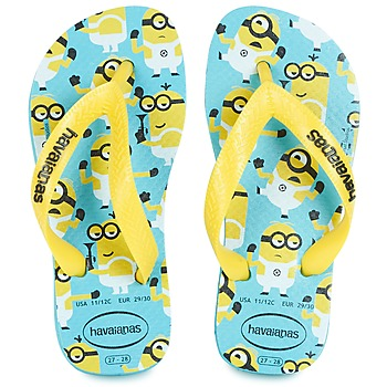 Sapatos Rapaz Chinelos Havaianas MINIONS Azul / Amarelo