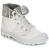 Sapatos Mulher Botas baixas Palladium US BAGGY Cinza / Matal