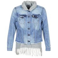 Textil Mulher casacos de ganga Scotch & Soda XAOUDE Azul / Claro / Cinza