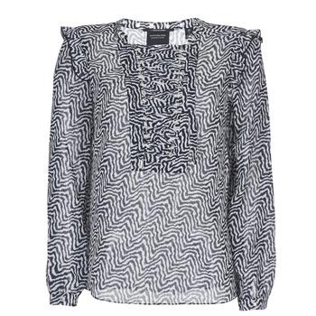 Textil Mulher Tops / Blusas Maison Scotch OLZAKD Preto / Branco