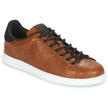 Sapatos Homem Sapatilhas Victoria DEPORTIVO PU CONTRASTE Castanho