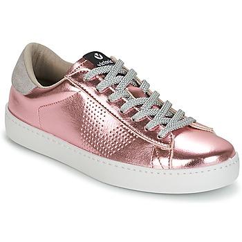 Sapatos Mulher Sapatilhas Victoria DEPORTIVO METALIZADO Rosa