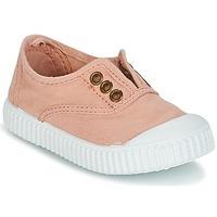 Sapatos Rapariga Sapatilhas Victoria INGLESA LONA TINTADA Rosa
