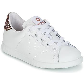 Sapatos Rapariga Sapatilhas Victoria DEPORTIVO BASKET PIEL KID Branco