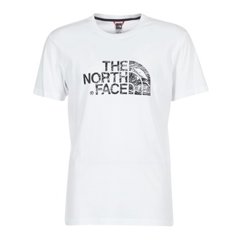 Textil Homem T-Shirt mangas curtas The North Face WOODCUT DOME TEE Branco