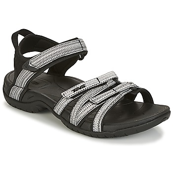 Sapatos Mulher Sandálias desportivas Teva TIRRA Preto / Branco