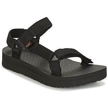 Sapatos Mulher Sandálias Teva MIDFORM UNIVERSAL Preto