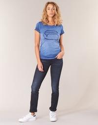 Textil Mulher Calças Jeans G-Star Raw MIDGE SADDLE MID STRAIGHT Azul