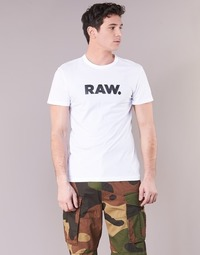 Textil Homem T-Shirt mangas curtas G-Star Raw HOLORN R T S/S Branco