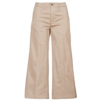 Textil Mulher Chinos G-Star Raw BRONSON HIGH LOOSE CHINO 7/8 WMN Bege