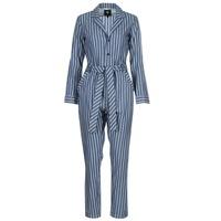 Textil Mulher Macacões/ Jardineiras G-Star Raw DELINE JUMPSUIT WMN L/S Azul / Branco
